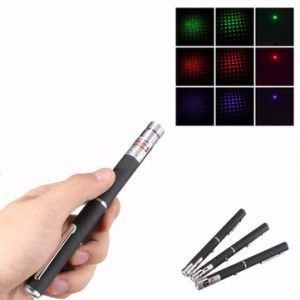 2 in 1 Aluminum Pen Red/Purple/Green Light Visible Star Laser Pointer