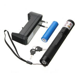 301 532nm Focusing Visible Beam Green Laser Pointer Pen 18650 Suit Set