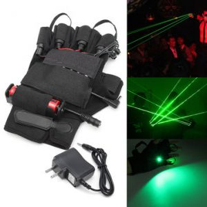 532nm Green Laser Glove Visible Beam Stage Lighting Show For Left Hand