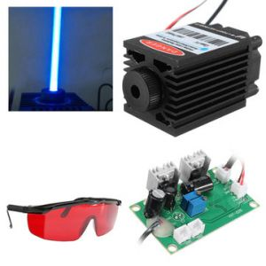 Focusable High Power 2.5W 450nm Blue Laser Module TTL 12V Carving free Goggles