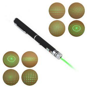 Pen Shape 5mW 532nm 5-Patterns Green Light Laser Pointer+AAA
