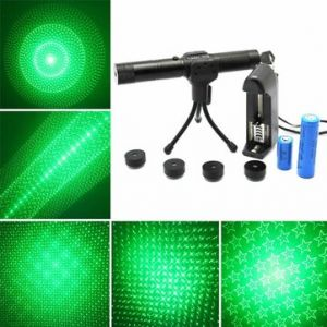 Adjustable 5 Patterns 532nm Green Beam Laser Pointer Suit(1mw,5mw)