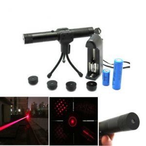 Adjustable 5 Patterns 650nm Red Beam Laser Pointer Suit(1mw,5mw)