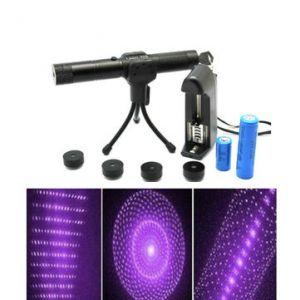 Adjustable 5 Patterns 405nm Purple Laser Pointer Suit(1mw,5mw)
