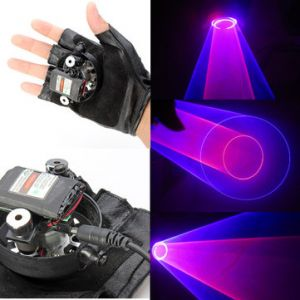 Gloves Red and Purple Swirl Laser Gloves 650nm 405nm 1mw/5mw
