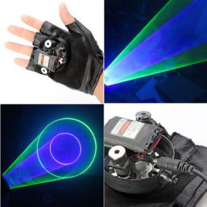 Gloves Green and Purple Swirl Laser Gloves 523nm 405nm 1mw/5mw