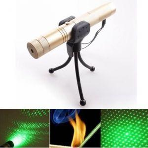 LT-0668 Adjustable Focus 532nm 5mw Green Laser Pointer+Light Star Cap
