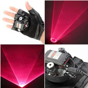 Glove Double Red Swirl Laser Pointer 650nm Built-in Battery 1mw/5mw