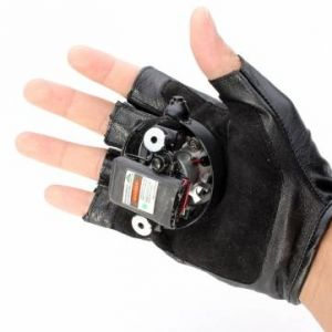 Gloves Double Purple Swirl Laser Gloves 405nm Built-in Battery 1mw/5mw