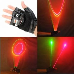 Glove Green and Red Swirl Laser Gloves 523nm 650nm 1mw/5mw