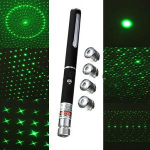 6-In-1 Patterns 532nm High Power Green Laser Pointer Pen