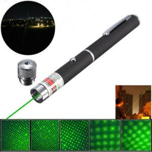 5-in-1 532nm Powerful All Star Green Laser Pointer Pen +0.5mw Star Cap