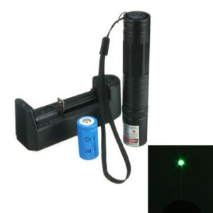 532nm 5mw Green Laser Pointer Pen High Power +16340 Battery+Charger