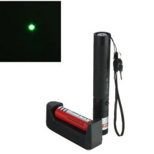 301 5mw Green Laser Pointer Pen Light +18650 Battery+ Charger