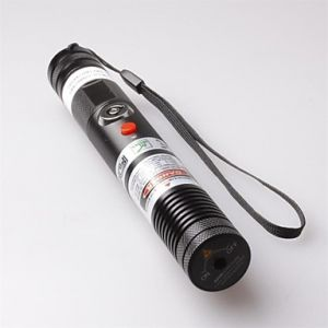 LT-S003 Focus Adjustable Focusable Burning Paper Cutting Red Laser Pointer(5mw,650nm,1x18650,Black)