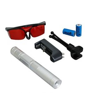 LT-0885 Eye-Protect Green Laser Pointer (5MW, 532nm, 2x16340, Assorted Colors)