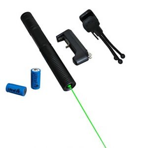 LT-08851  Green Laser Pointer (4MW, 532nm, 2x16340, Assorted Colors)