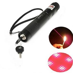 LT-303B Lockable Red Laser Pointer (3MW,650nm,1x18650,Black)