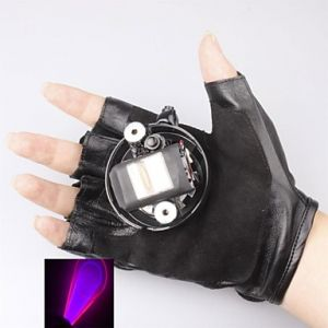 LT-405 Glove Purple and Red Laser Pointer(2MW,405nm,1xLithium Battery,Black)