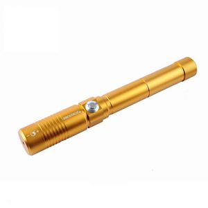 U`King ZQ-j9 Focusable / Pointer Laser Pen / Can Be Self-Defense / SOS Kit(5MW 445nm Black Silver Gold)