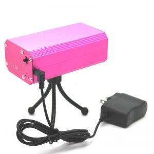 04 Mini Laser Stage Lighting with Adapter and Tripod Pink (AC 220V 50Hz)