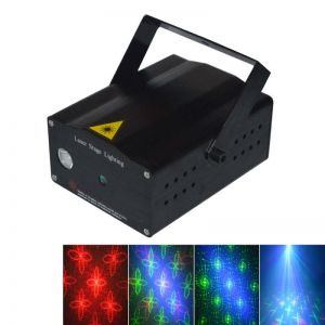 LT 20 in 1 Rotatable Patterns 50mW/100mW Green and Red Stage Light Black