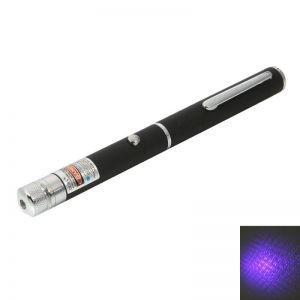 1mW 405nm Blue and Purple Beam Light Laser Pointer Pen Black
