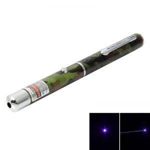 1mW 405nm Blue & Purple Laser Beam Single-point Laser Pointer Pen Camouflage Color