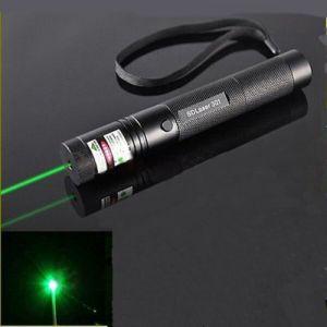 301 5mW 532nm Adjustable Focus Burn Green Laser Pointer Pen Black