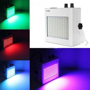 35W 108LEDs RGB Voice Control Adjustable Strobe Mini Stage Light White (US/EU Standard Plug)