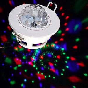 3W E27 LED RGB Rotating Sound-activated Bulb Lamp Party Stage Light (AC85-260V)