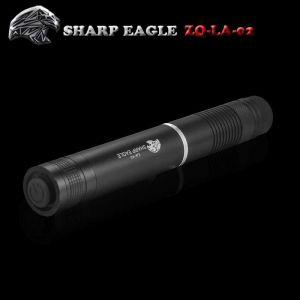 SHARP EAGLE ZQ-LA-02 5mW 532nm/650nm Green & Red Light Starry Sky Style Waterproof Aluminum Laser Pointer Black