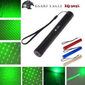 SHARP EAGLE ZQ-303L 5mW 532nm Green Light Waterproof Aluminum Cigarette & Matchstick Lighter Laser Sword Black