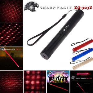 SHARP EAGLE ZQ-303Z 5mW 650nm Red Light Waterproof Aluminum Cigarette & Matchstick Lighter Laser Sword Black