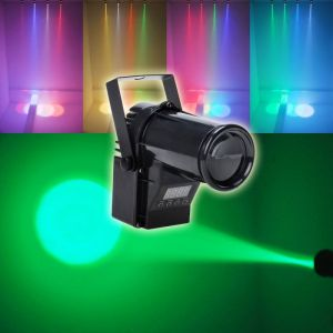 30W Multicolored Light 3 Control Modes Mini LED Stage Lamp Black