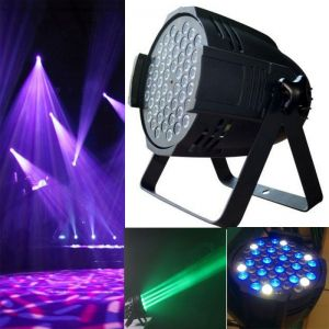 162W 54 LED DMX512 4 Control Modes RGB Light LED Stage Lamp Black