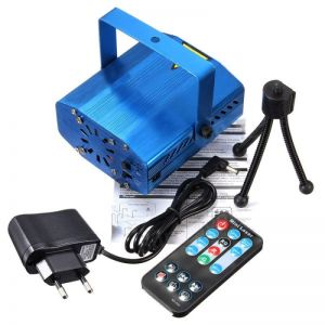 Fantastic Mini Starry Sky Style Green & Red Light LED Laser Stage Light with Remote Controller (EU Standard) Blue