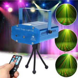 Fantastic Mini Starry Sky Style Green & Red Light LED Laser Stage Light with Remote Controller (AU Standard) Blue