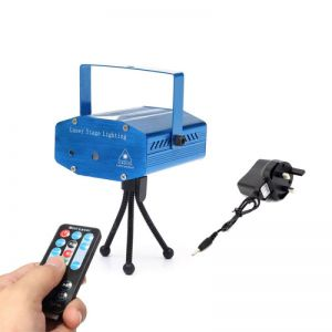 Fantastic Mini Starry Sky Style Green & Red Light LED Laser Stage Light with Remote Controller (UK Standard) Blue
