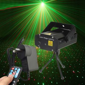 Fantastic Mini Starry Sky Style Green & Red Light LED Laser Stage Light with Remote Controller (AU Standard) Black