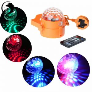 U`King ZQ-B12 6W 3-in-1 Plug-in Type RGB Light Automatic Sound Control LED Stage Light with Remote Control Orange (110-240V)