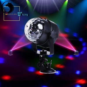 U`King ZQ-B13 8W 4-in-1 RGBW Light Automatic Sound Control LED Stage Light with Sucker Black