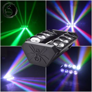 U`King ZQ-B19A 8-LED 4-in-1 RGBW Light Automatic Master-slave Sound Control Stage Light Set EU Plug Black
