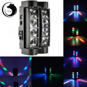 U`King ZQ-B20A 85W 8-LED 4-in-1 RGBW Light Master-slave Sound Control Automatic Stage Light Set AU Plug Black