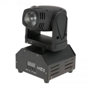 U`King ZQ-B28 10W RGBW Light Self-propelled Master-slave Voice-activated Stage Light Set UK Plug Black