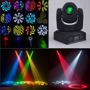 U`King ZQ-B54A 50W 1-LED 8 Rotary Pattern Effect DMX-512 Self-propelled Sound Control LED Stage Lamp EU Plug Black