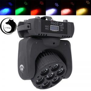 U`King ZQ-B27 120W 7-LED RGBW Color Mixture Auto Master-slave Stage Light UK Plug Black