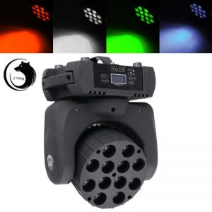 U`King ZQ-B29 180W 12-LED RGBW Auto / Sound Control DMX512 Stepless Stage Light EU Plug Black