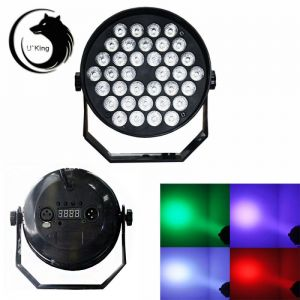 U`King ZQ-B30 36-LED RGB Single Light Self-propelled Master-slave Voice-activated Stage Light EU Plug Black