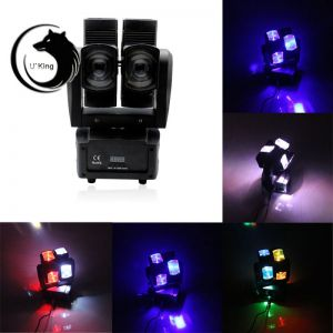 U'King ZQ-B62A 160W RGBW Light Effect Voice-activated Master-slave DMX512 Automatic Mode Hot-wheel Style Stage Lamp Set US Plug Black